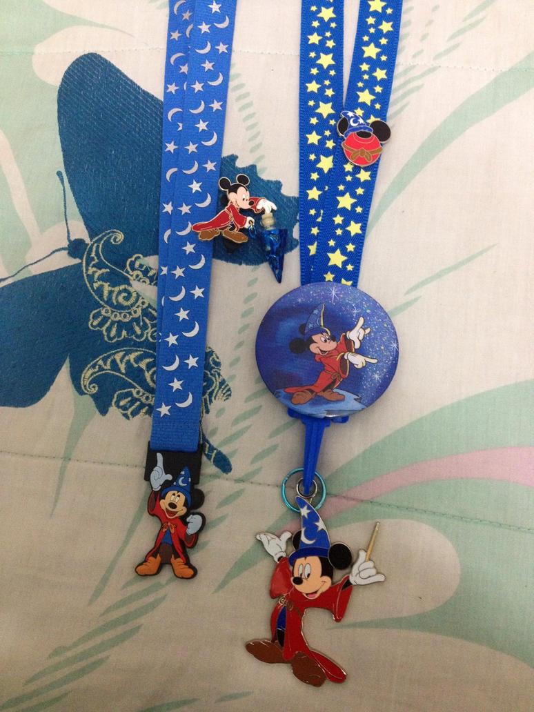 Sorcerer Mickey Theme Lanyard by firegirl1995