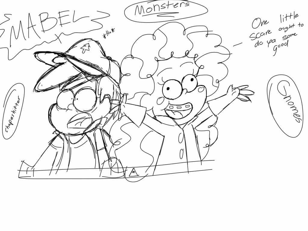 One Little Scare Ought To Do You Some Good Sketch by firegirl1995