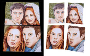 Amy and Rory Dr. Who Sketch Cards by Purple-Pencil