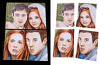 Amy and Rory Dr. Who Sketch Cards