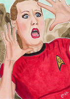 Red Shirt about to die by Purple-Pencil