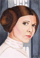 Princess Leia Star Wars by Purple-Pencil