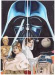 Puzzle Card Star Wars Darth Vader Luke Leia C3PO
