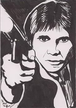 Han Solo Black and White Brush Pen