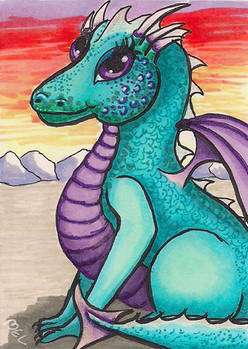 Dragon - Cute with glitter