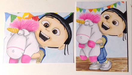 He's So fluffy I'm Gonna die! Agnes Despicable Me by Purple-Pencil