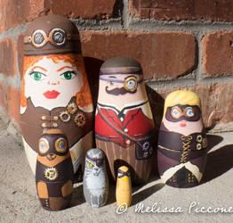 Steampunk Nesting Dolls