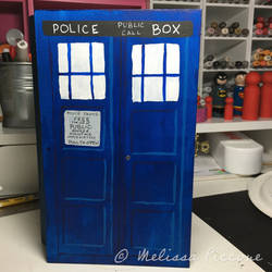 Dr. Who Tardis painted box
