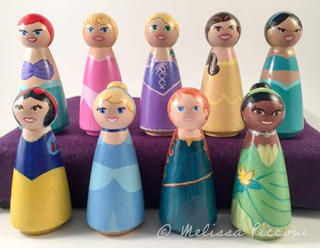 Princess peg dolls