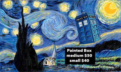 Starry Night Tardis Painted box