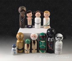 Star Wars Peg dolls