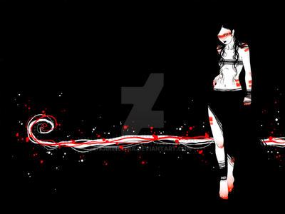 . red girl wallpaper . by karincoma