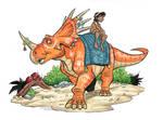 Color Styracosaurus by marimoreno