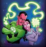 Sinestro and Arin Sur