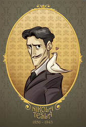 Nikola Tesla by marimoreno