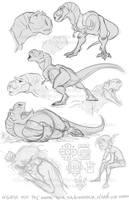 K'aloo and Yarek sketches by marimoreno