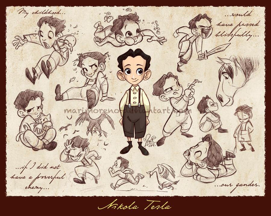 Little Nikola Tesla By Marimoreno On Deviantart