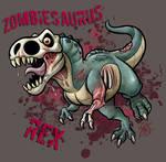 Zombiesaurus-Rex by marimoreno