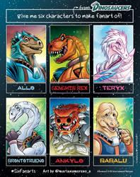 Six Fanart Challenge - Dinosaucers