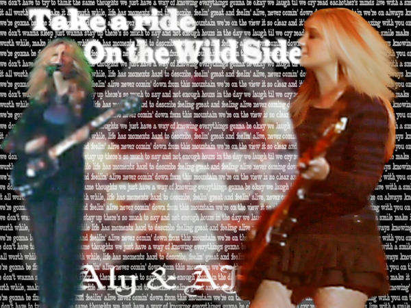 On the ride aly and aj with lyrics