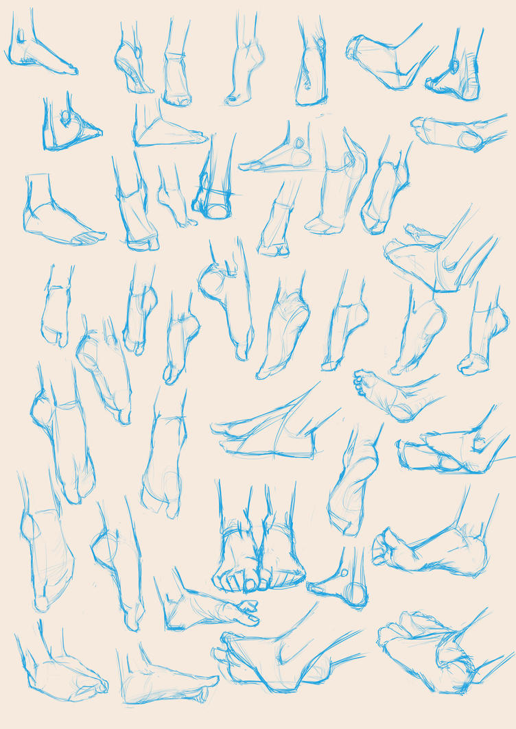 Feet sketches 01 by ra1590