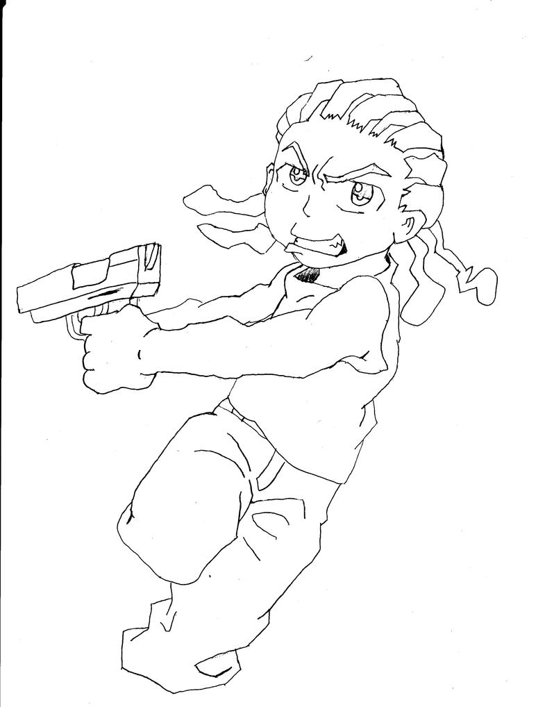 the boondocks riley coloring pages - photo#17