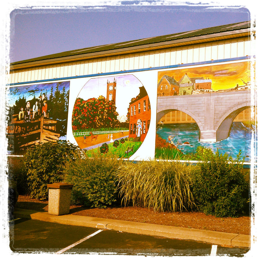 Erie canal mural in lyons ny by mojosphotos on deviantart for Canal fluminense mural