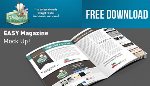 FREE DOWNLOAD PSD Magazine Mock Up by DesignersBestFriend