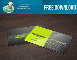 FREE DOWNLOAD Corporate Green Black BCard Template