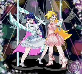 Panty and Stocking by p0ndb4t