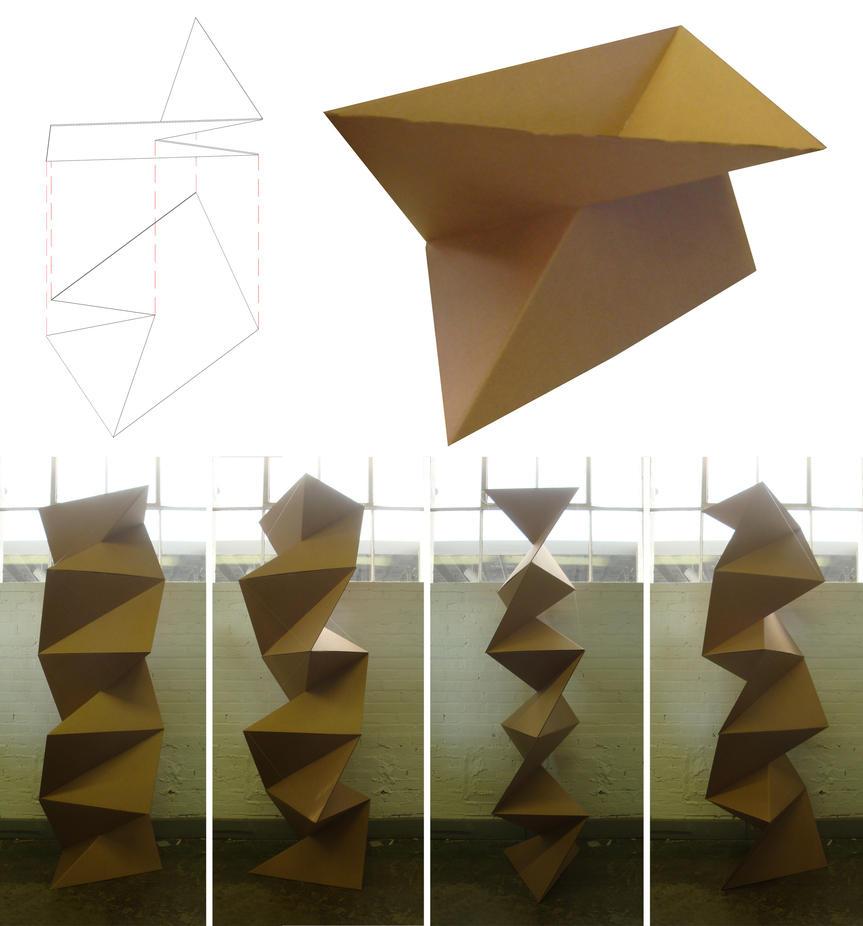cardboard origami wall 2 by scottdpenman on deviantart
