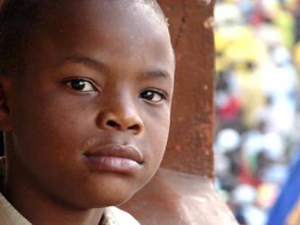 Haitian boy by juan-arita