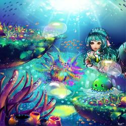 K: Wingslee - Underwater View by Raayzel