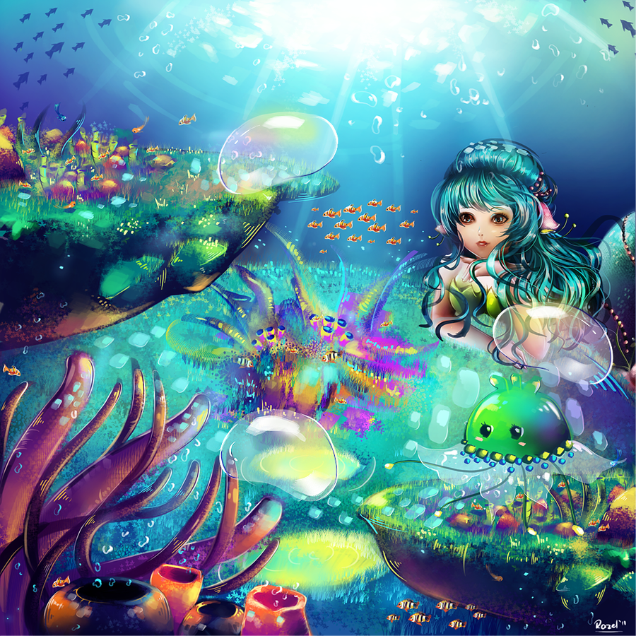 K: Wingslee - Underwater View by Raayzel