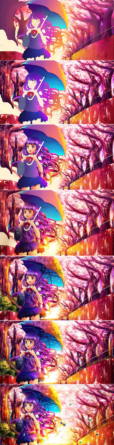 Process: Going Home by Raayzel