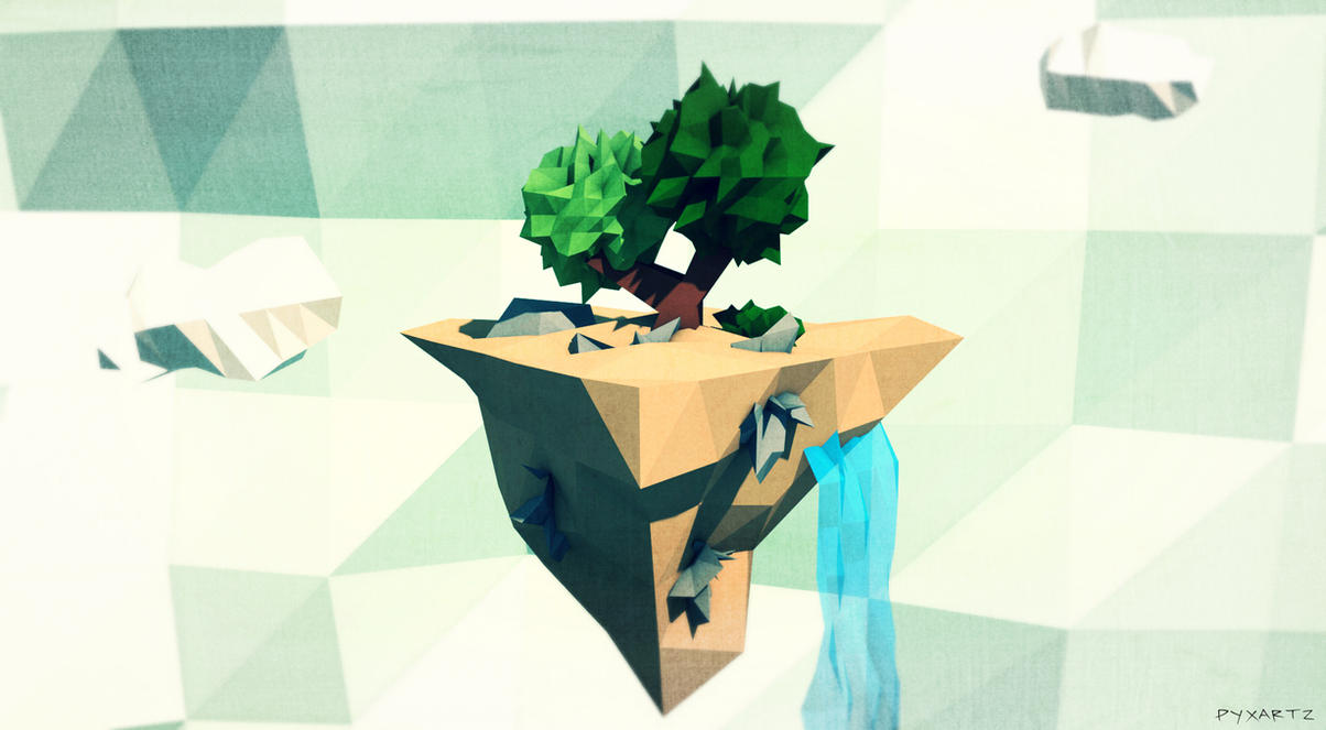 Low Poly Island. by pyxArtz