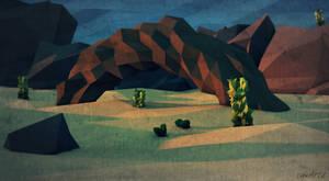 Low Poly Desert.