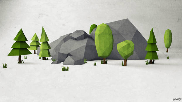 just low poly.