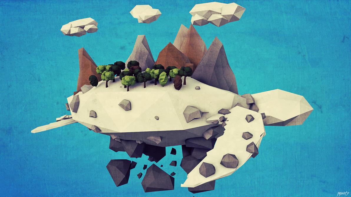 turtle. | CINEMA 4D | WALLPAPER | LOW POLY by pyxArtz