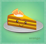 Slice of Orange Cake
