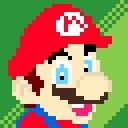 128x128 px Mario by wildgica