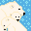 128x128 px Polarbears by wildgica