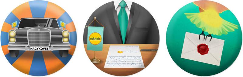 Rukkola.hu Badges - for Brandvocat Campaign