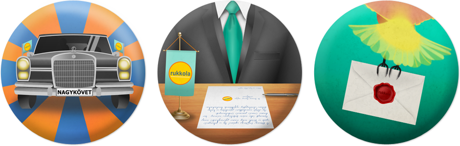 Rukkola.hu Badges - for Brandvocat Campaign by wildgica