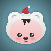 Christmas Bear by wildgica