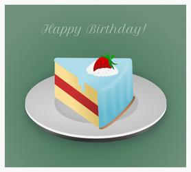 Birthday Slice by wildgica