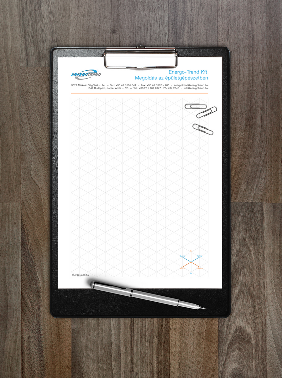 Isometric Sketch Paper – for EnergoTrend Kft.