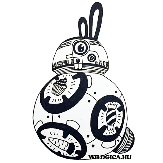 BB-8 Bunny by wildgica