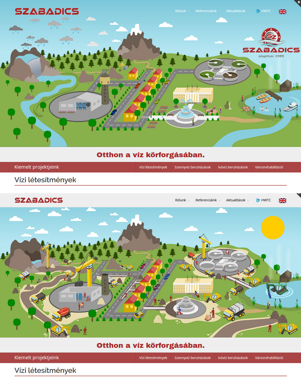 Website Header Images for Szabadics Co. Ltd.