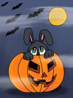 Halloween Bunny by wildgica